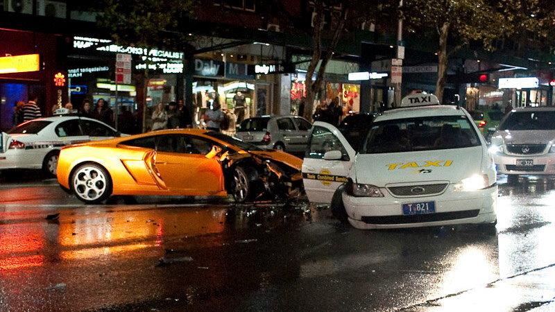 Lamborghini Gallardo crashes in Sydney