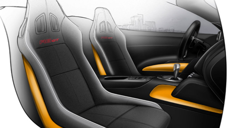 Audi R8 GT Spyder official sketches