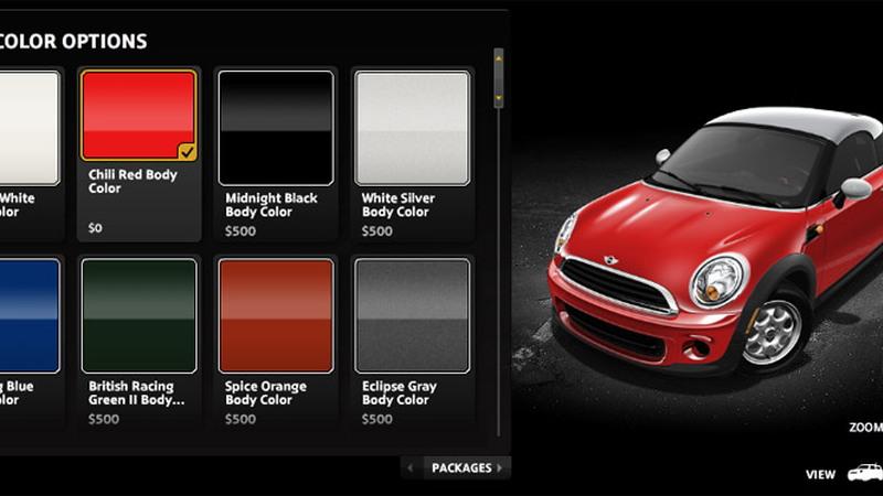 Build Your Dream 2012 Mini Cooper Coupe With Online Configurator