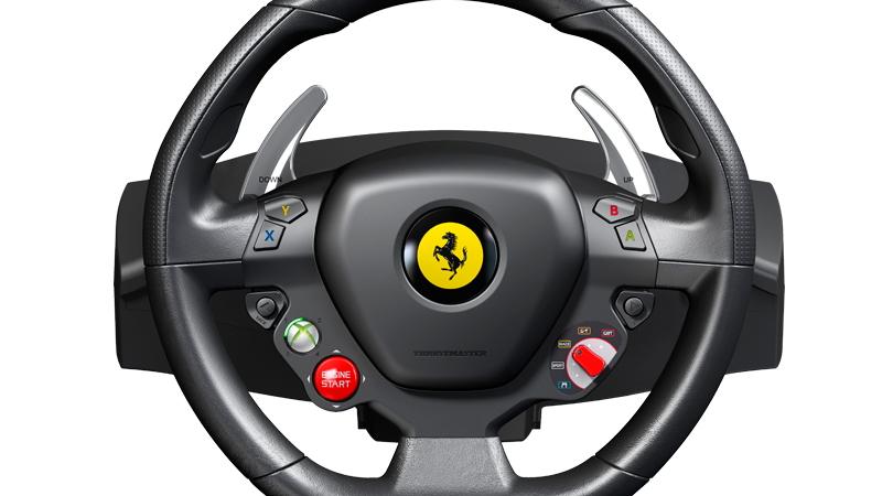 Thrustmaster's Ferrari 458 Italia replica steering wheel.