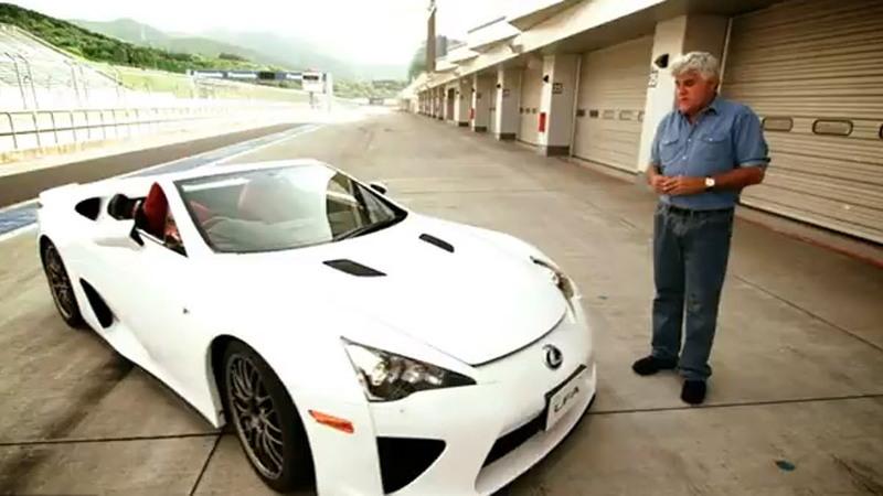 Jay Leno and the only Lexus LFA Spyder ever produced