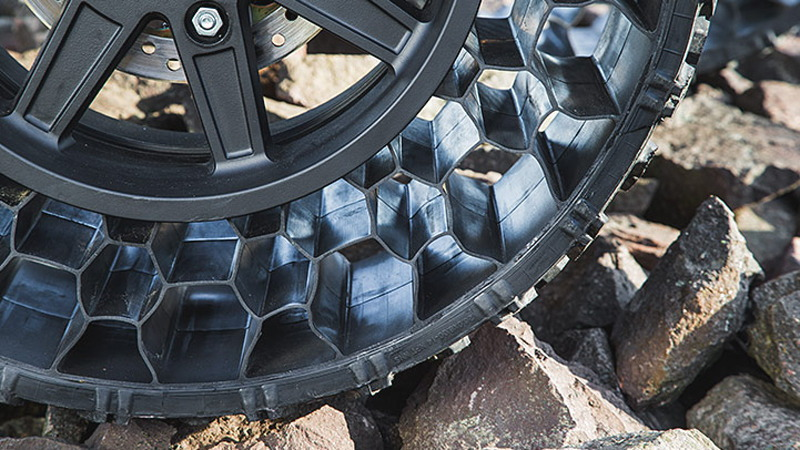 Polaris Sportsman WV850 H.O. with airless tires.