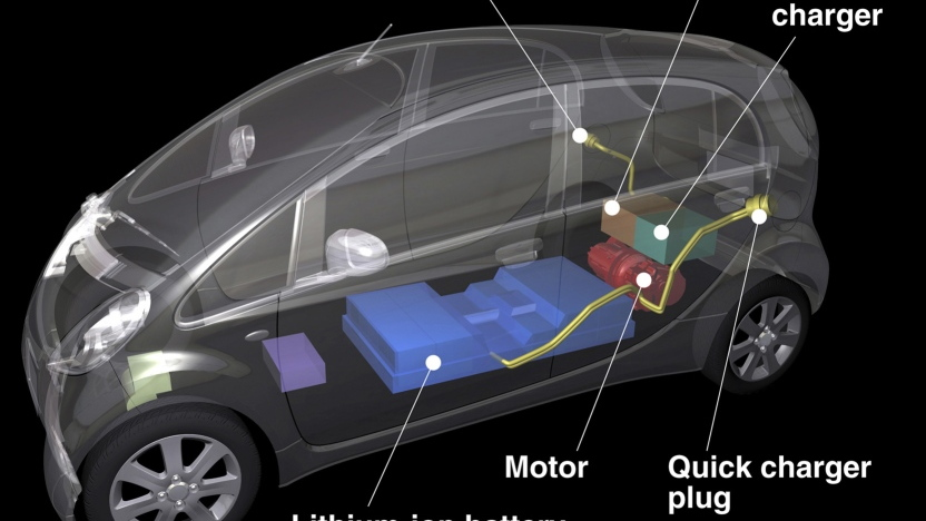 2012 Mitsubishi i electric car layout