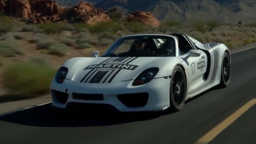 Porsche 918 Spyder prototype undergoes hot weather testing in Nevada's Valley of Fire
