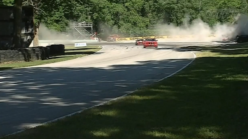Mark Pombo's crash at Road America