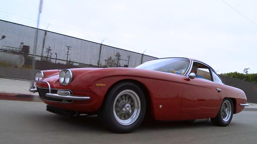 Jay Leno drives Jack Riddell's 1967 Lamborghini 400 GT 2+2