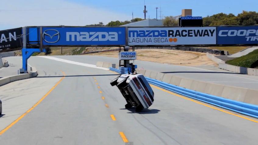 James 'Ski' Smith drives Laguna Seca