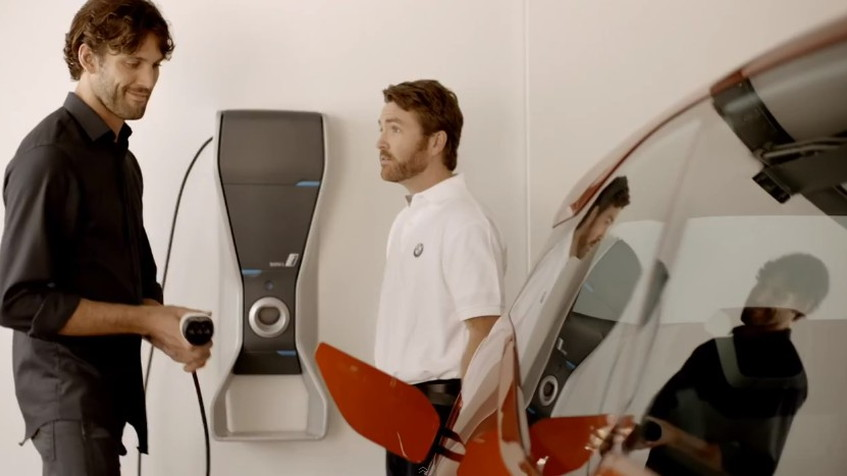 Screencap from web ad for the BMW i3
