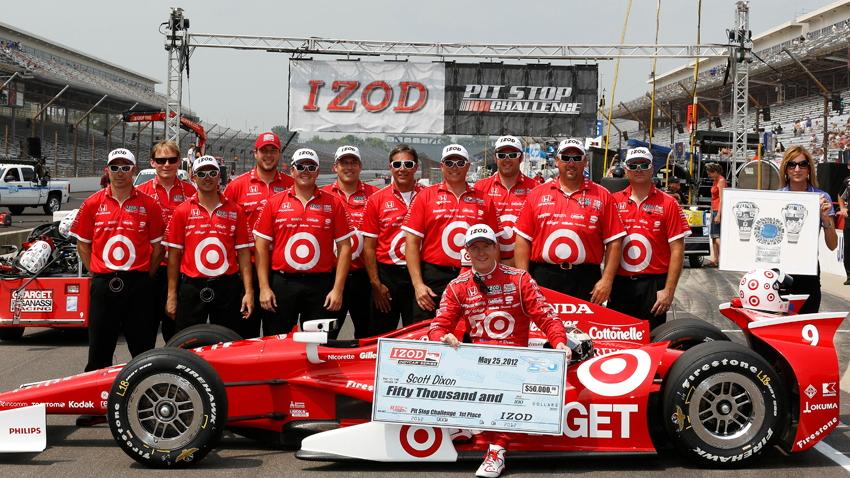 Scott Dixon's crew won the IZOD Pit Stop contest - Photo courtesy IZOD IndyCar Series/LAT
