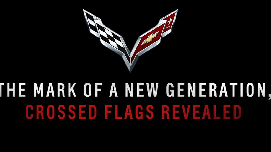 2014 Chevrolet Corvette crossed flags emblem