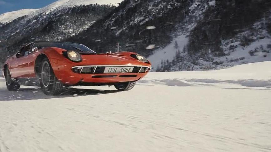 A WInter's Tale sees a Lamborghini Miura adventuring through the snow