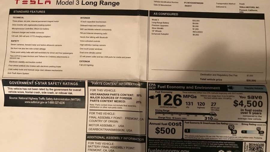 Tesla Model 3 Comes Up For Sale For 150 000