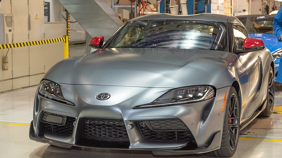 First production 2020 Toyota Supra