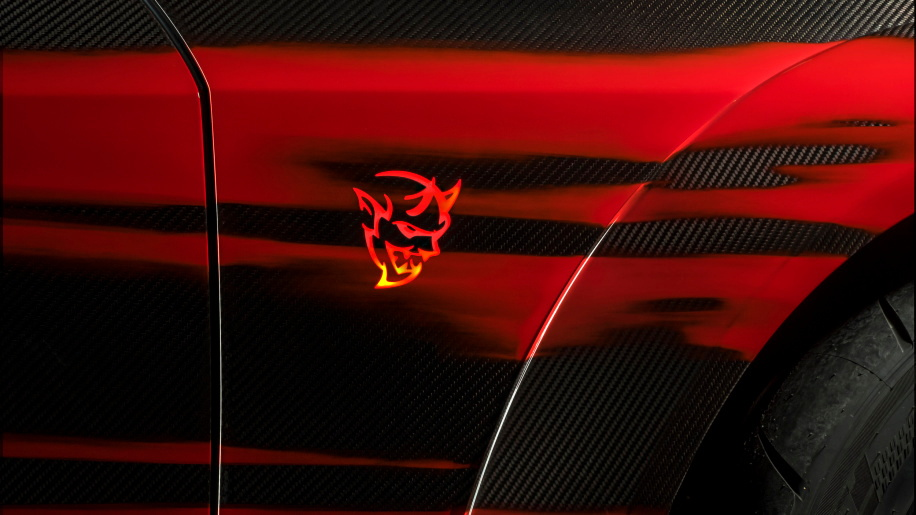 SpeedKore carbon-fiber body parts for 2018 Dodge Challenger Demon
