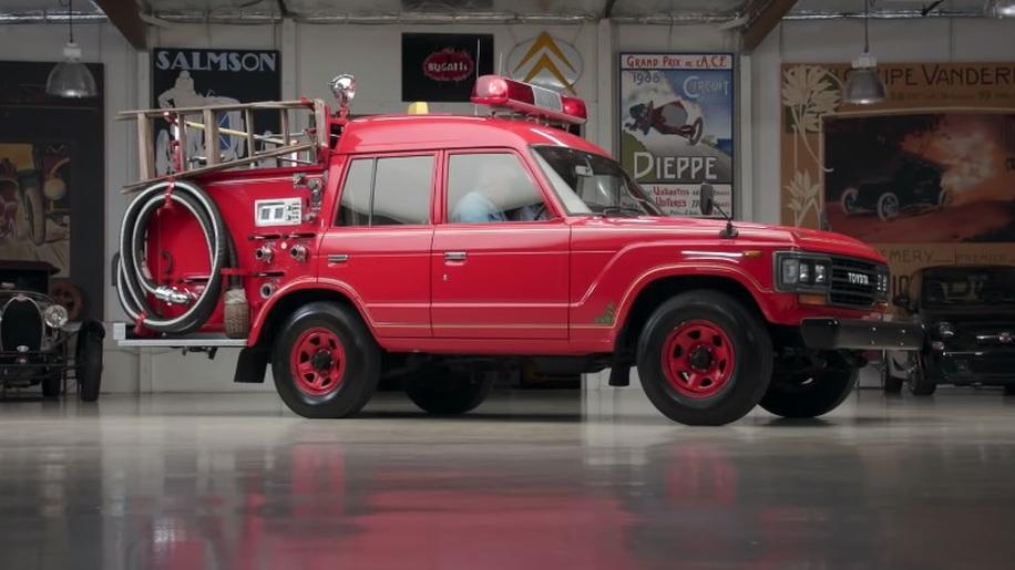 1989 Toyota Land Cruise fire truck on Jay Leno's Garage