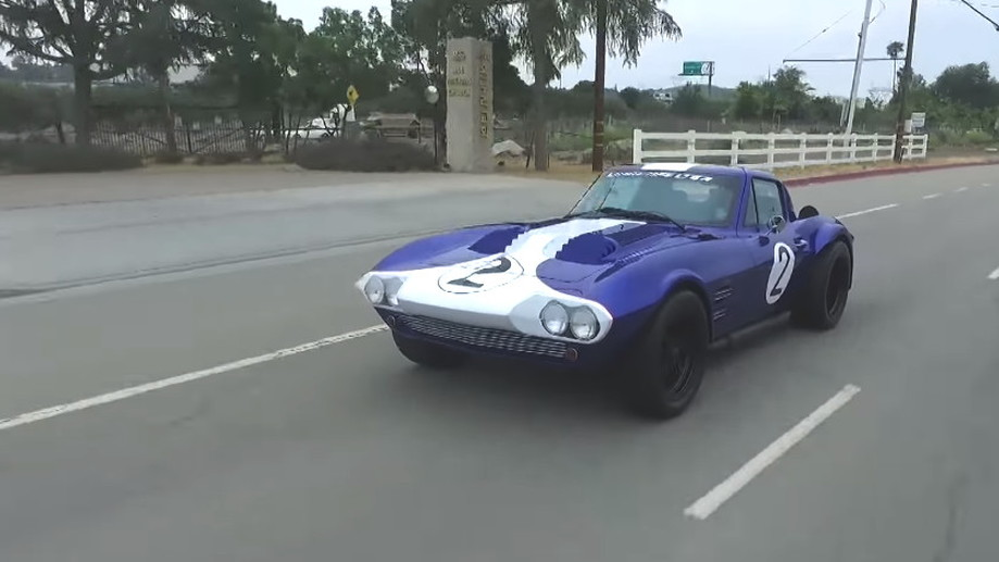 Jay Leno drives the Superformance Corvette Grand Sport