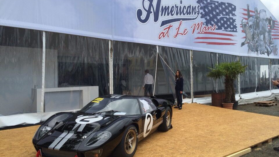 1966 Ford GT40 P1046 at Le Mans, June 2016