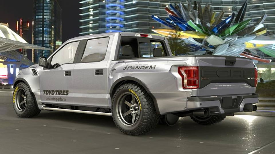 Pandem Rocketbunny Ford Raptor rendered