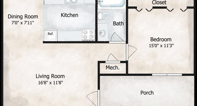 The Ewing Floorplan Diagram