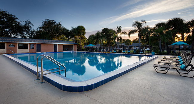 Sparkling Swimming Pool at the Reserves of Melbourne Apartment Homes in Melbourne, FL