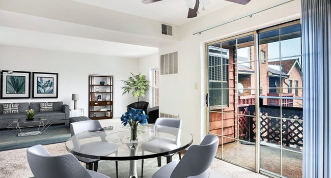 Large Dining Areas with Sliding Doors to Private Balcony