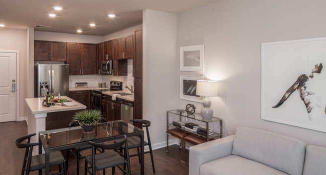 apartment dining room at Griffis Riata in Austin