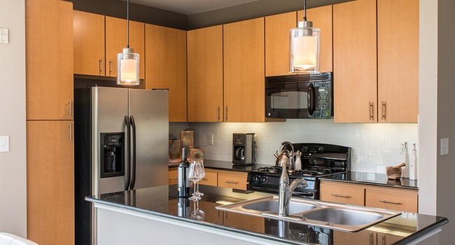 Modern kitchens with black pearl granite countertops