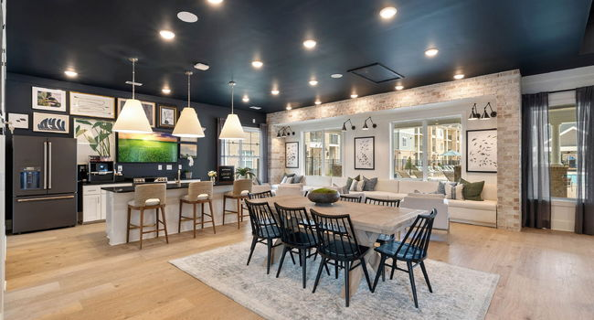 Beautiful clubhouse and chefs kitchen at Reserve at Greenwood in Greensboro, NC