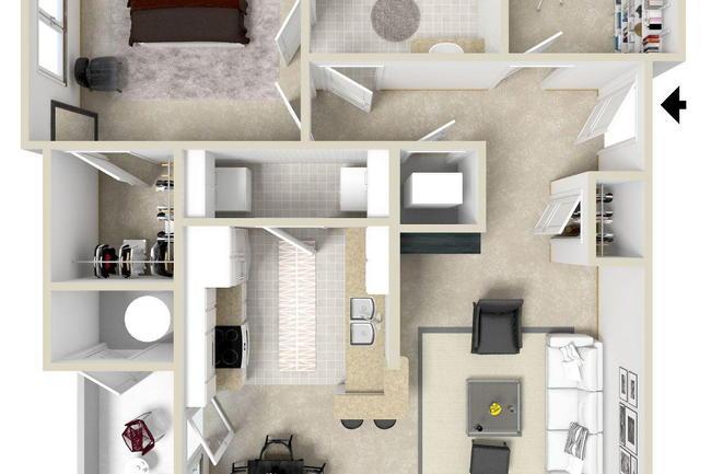 Floor Plan Photo Of Charleston Apartments In Mobile Al