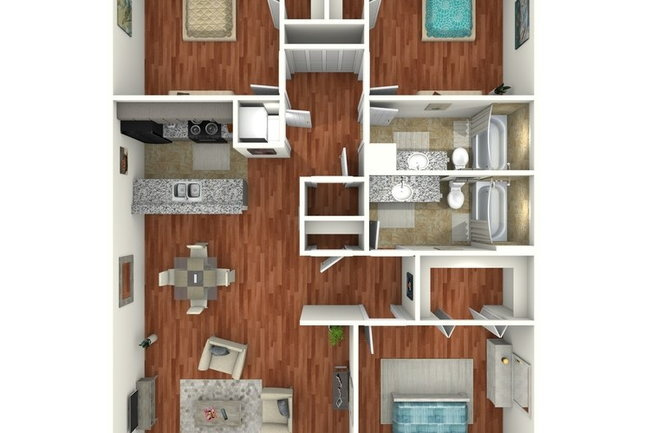 Floor Plan Photo Of Vintage Square Apartments In Mcallen Tx